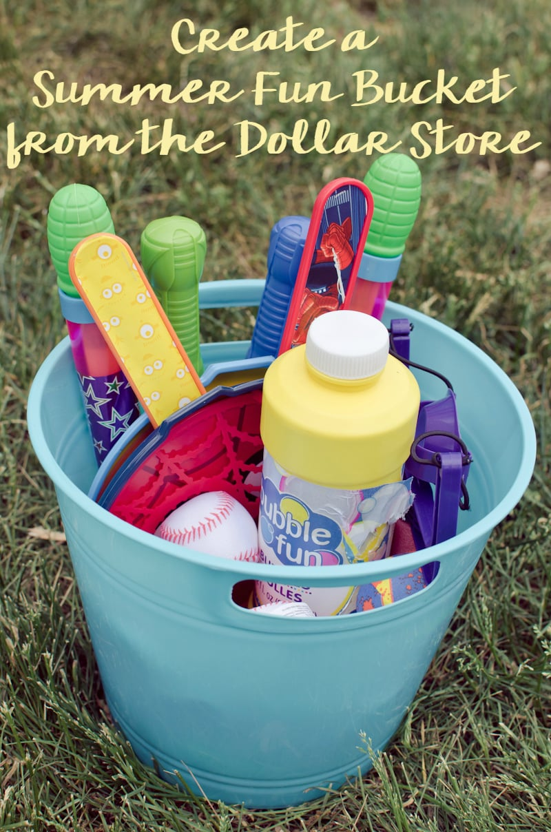 create a summer fun bucket from the dollar store-5