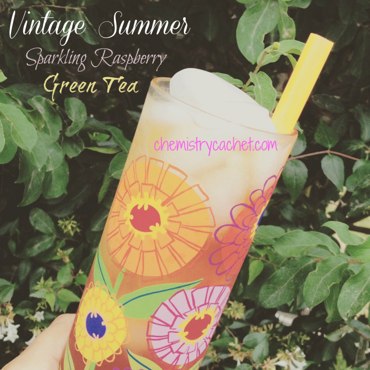 Vintage-Summer-Sparkling-Raspberry-Green-Tea-perfect-for-a-warm-evening-in-the-garden-Healthy-and-Easy-chemistrycachet.com_