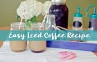 easy iced coffee recipe featured
