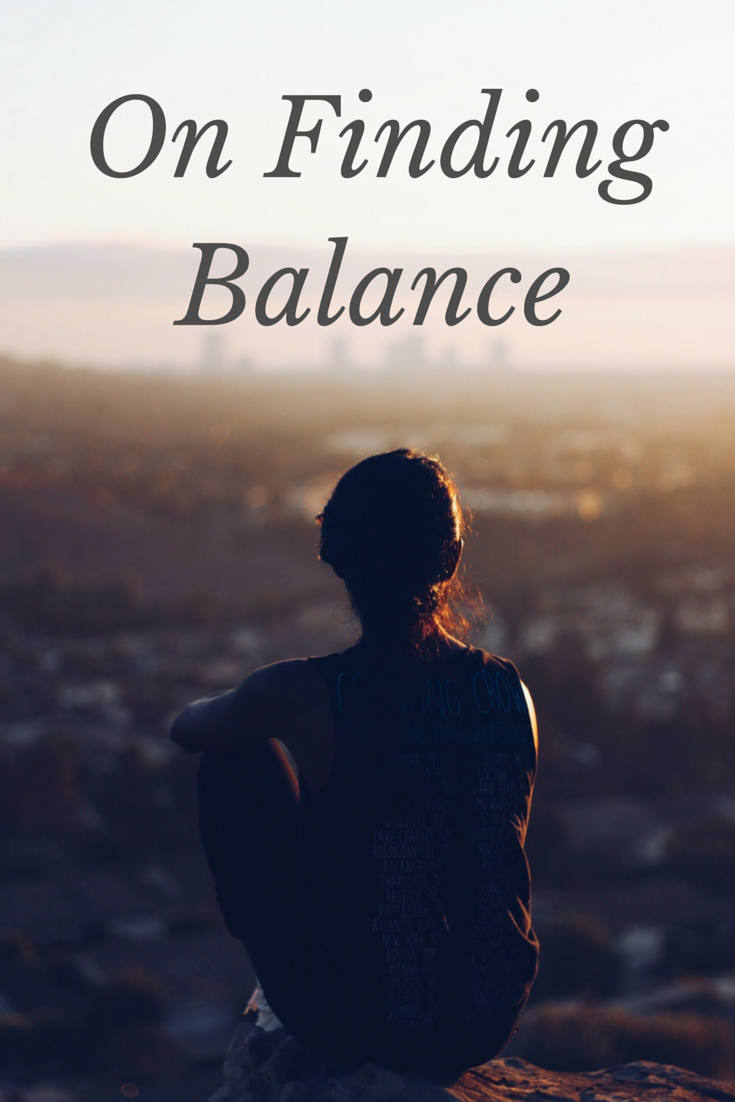 on finding balance