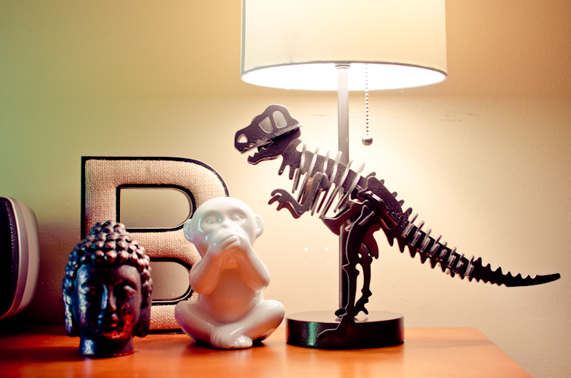 DIY Dinosaur Lamp For Less Than 30
