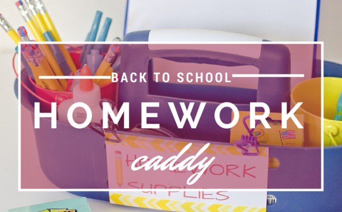 Get Ready for Back to School with a Homework Caddy