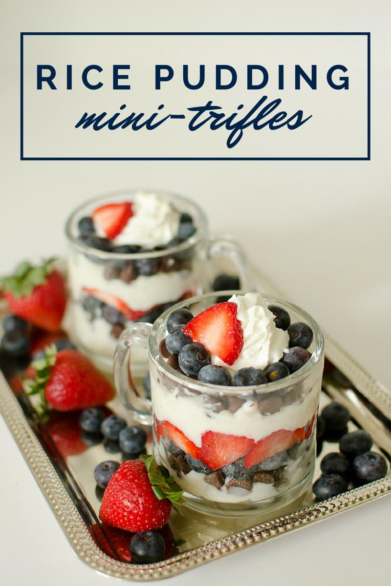 rice pudding mini-trifles