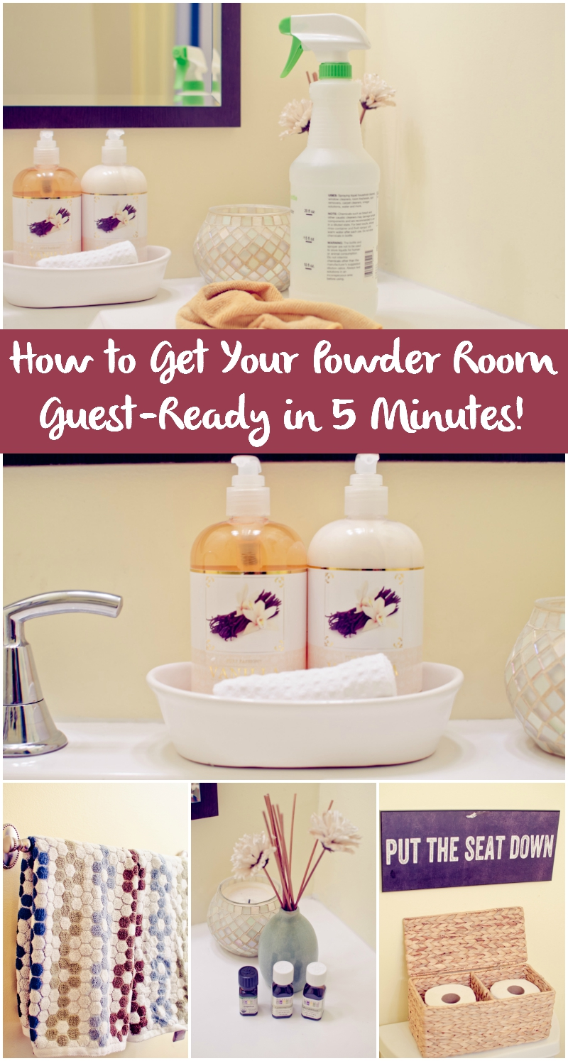 how to get your powder room guest-ready in 5 minutes