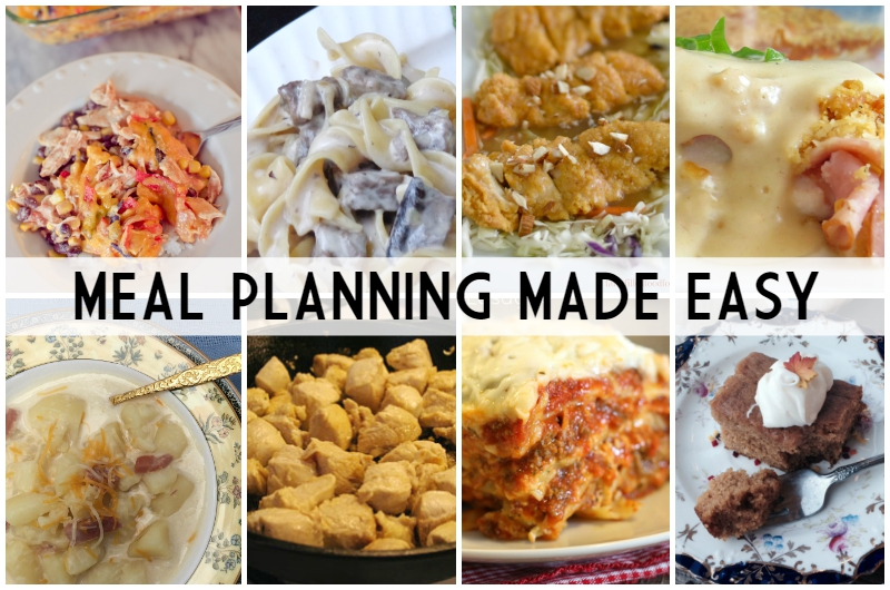 Meal Planning Made Easy Week 8