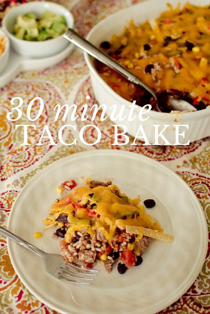 30 minute taco bake