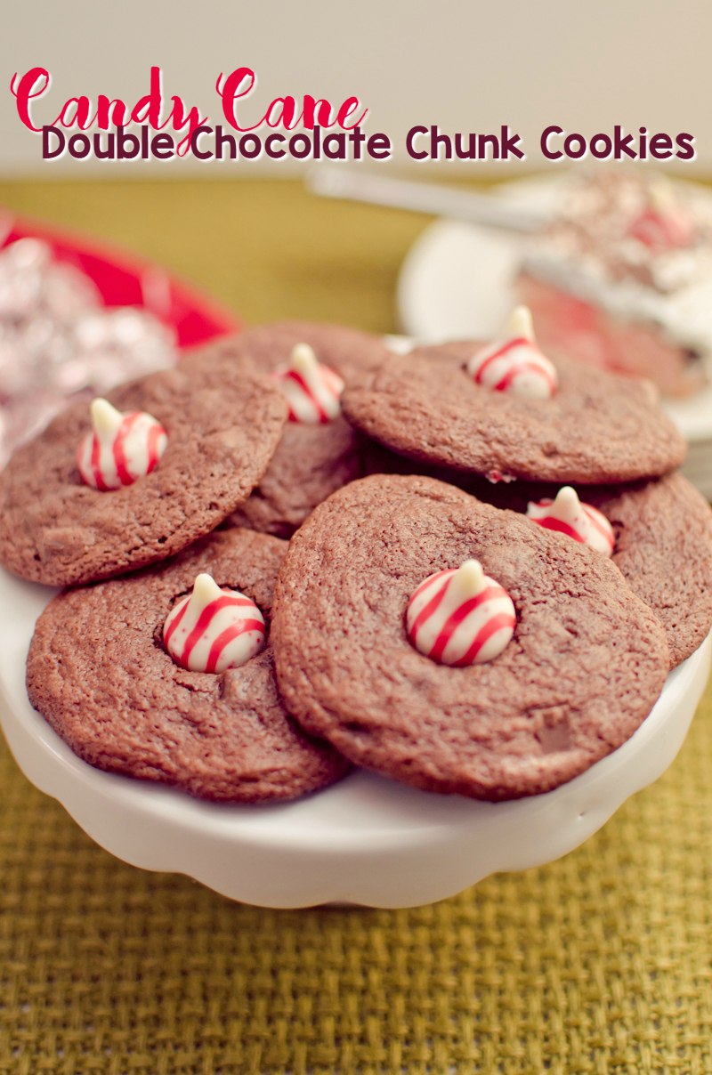 ... to make Candy Cane Double Chocolate Chunk Cookies! You'll need