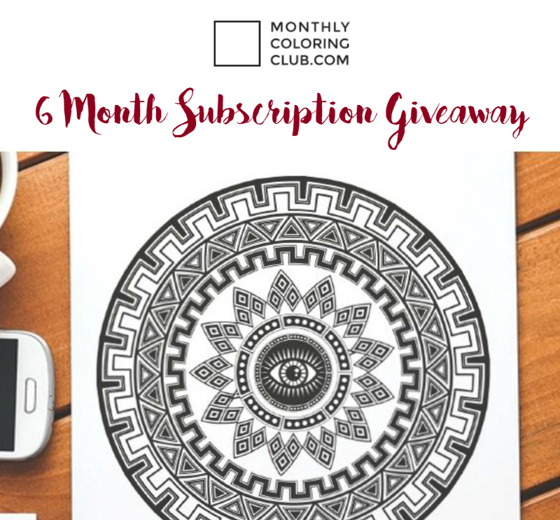 monthly coloring club giveaway