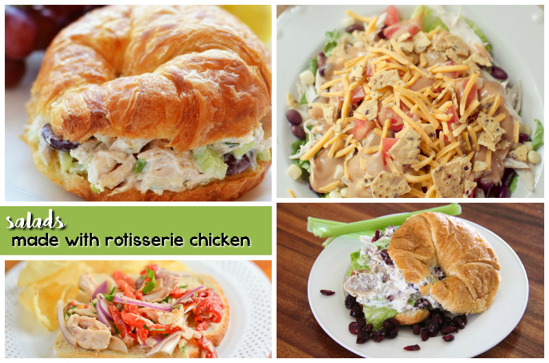 salads made with rotisserie chicken