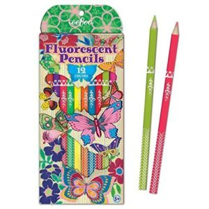 Eeboo  Click to open expanded view      Butterfly Fluorescent Pencils, set of 12