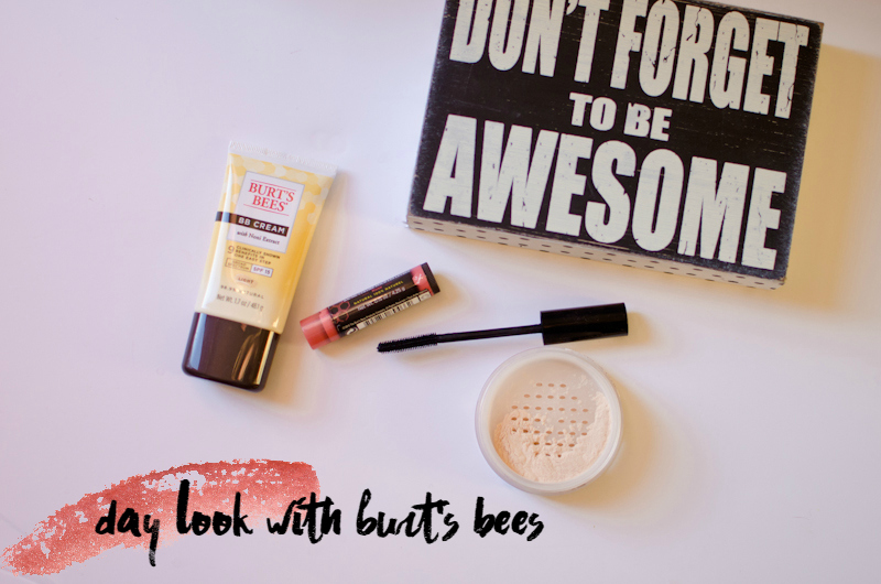 day look with burts bees