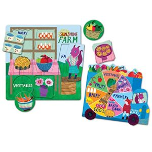 eeboo Green Market Spinner Game