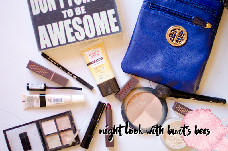 night look with burts bees
