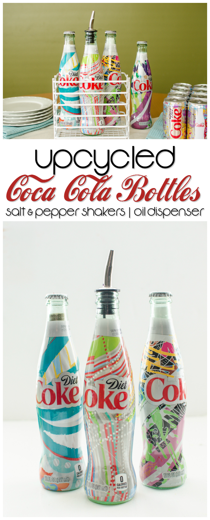 upcycled coca cola bottles