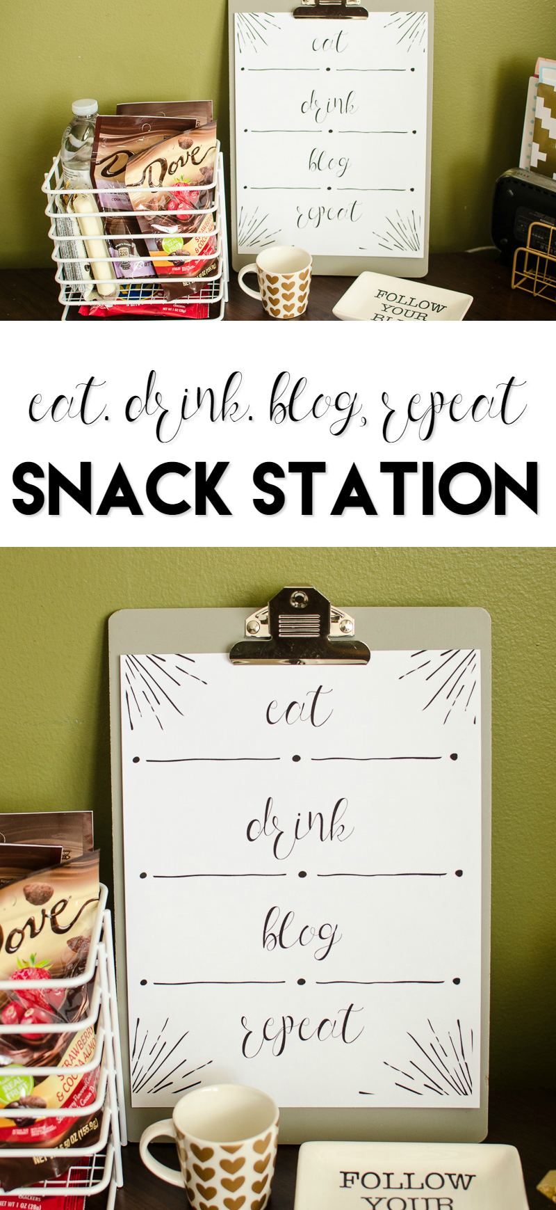eat drink blog repeat snack station