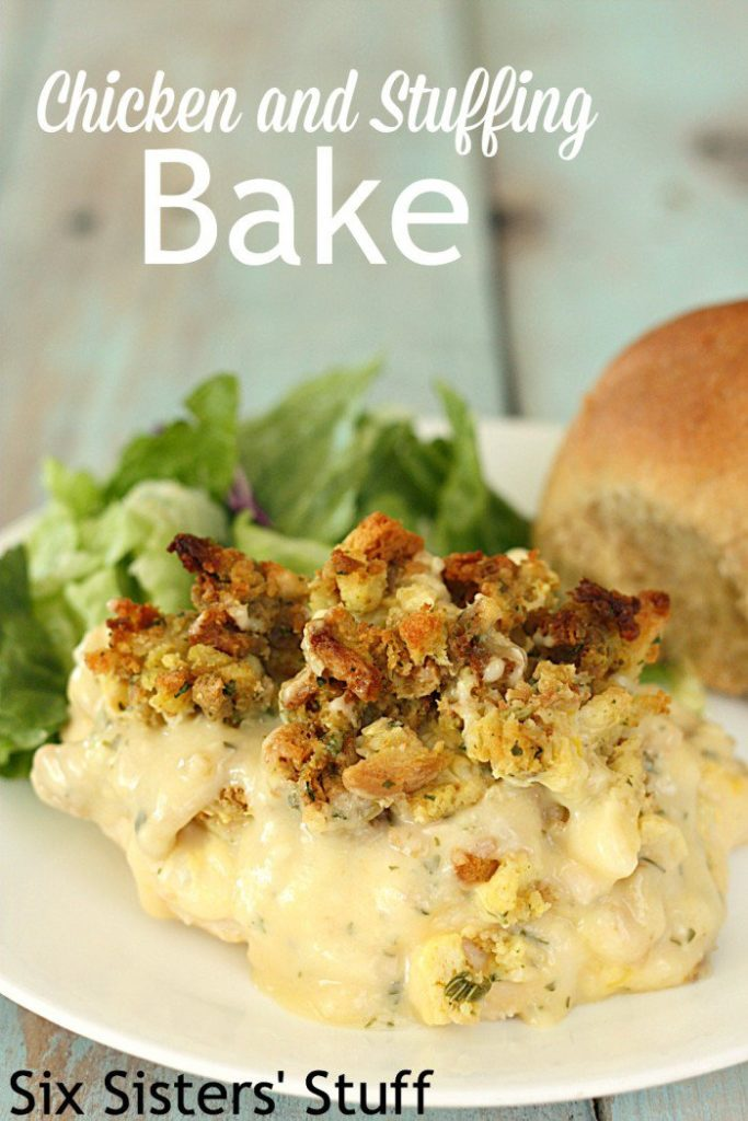 Chicken and Stuffing Bake | Recipe from Six Sister's Stuff