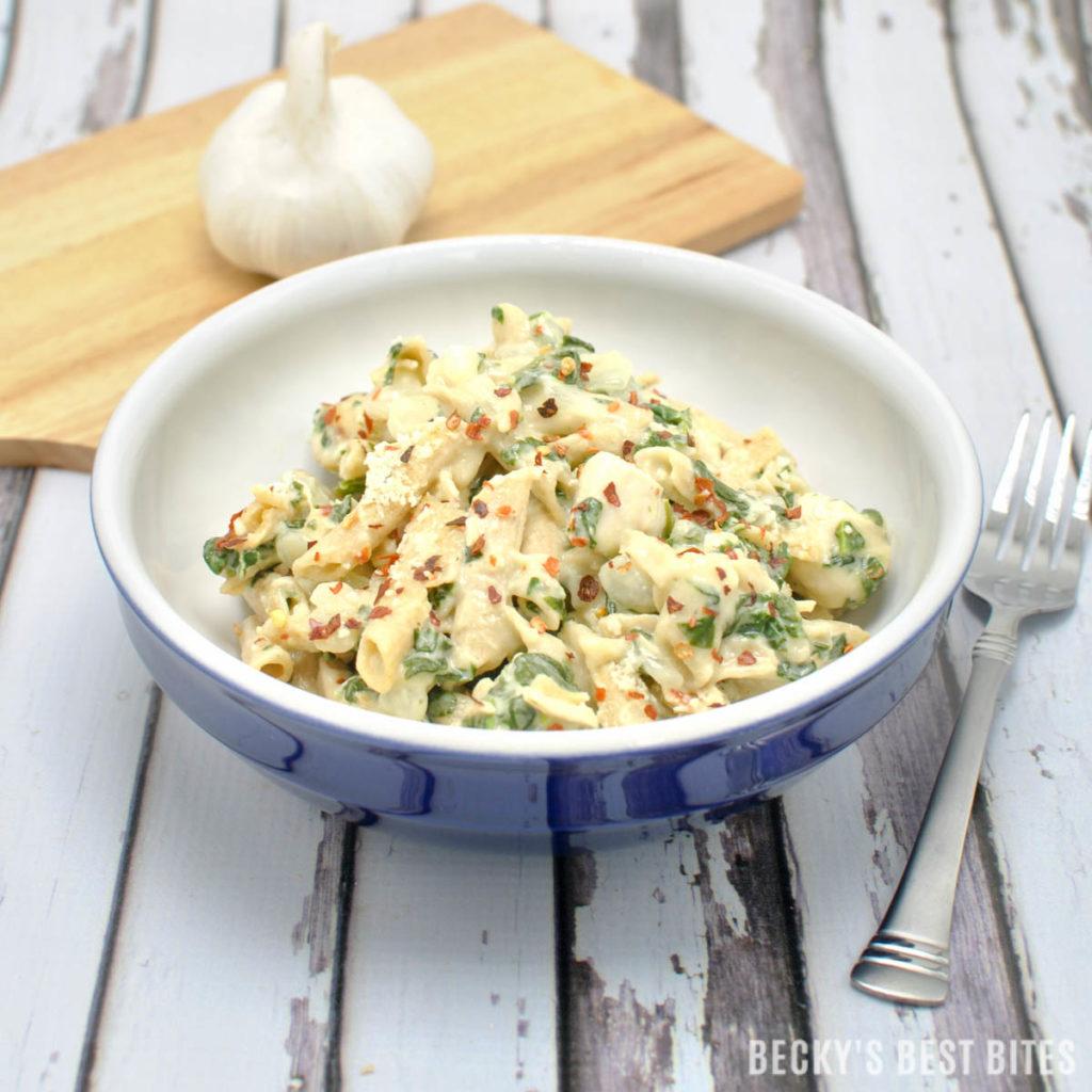 Creamy-Garlic-Spinach-Chicken-Pasta