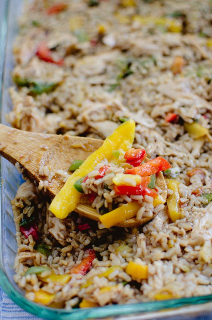 Teriyaki Chicken and Rice Casserole-6