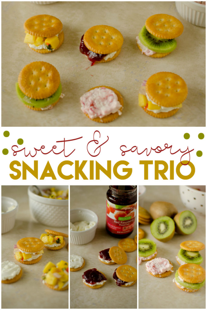sweet and savory snacking trio