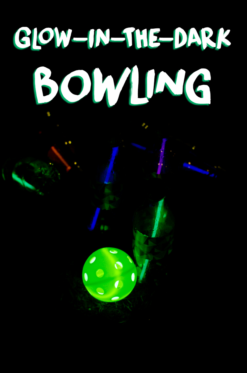 glow-in-the-dark bowling