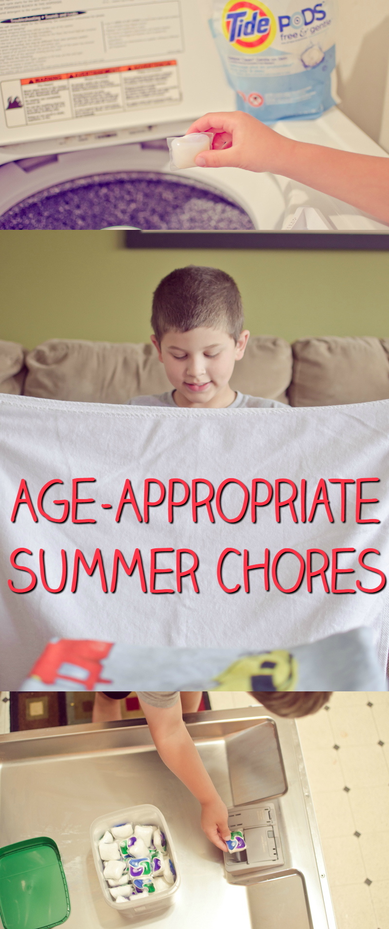 age-appropriate summer chores