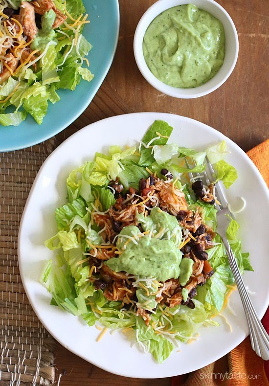 crock-pot-chicken-and-black-bean-taco-salad-550x789