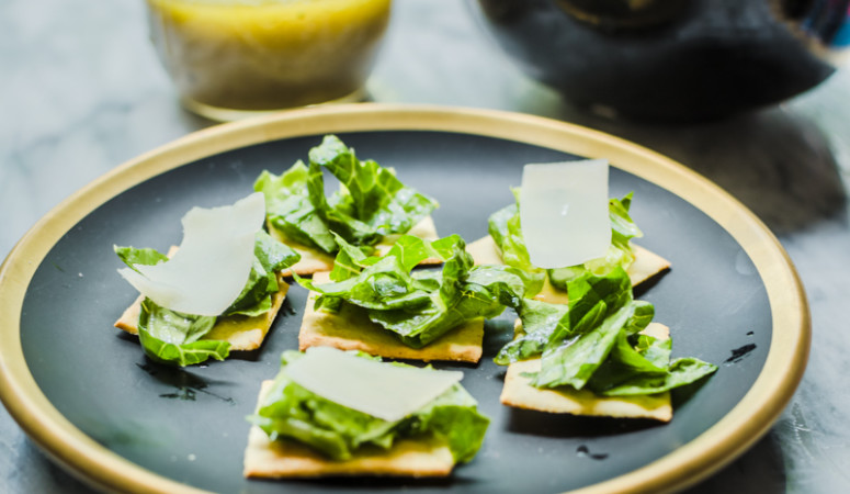 Caesar Salad Bites + Saffron Road Giveaway