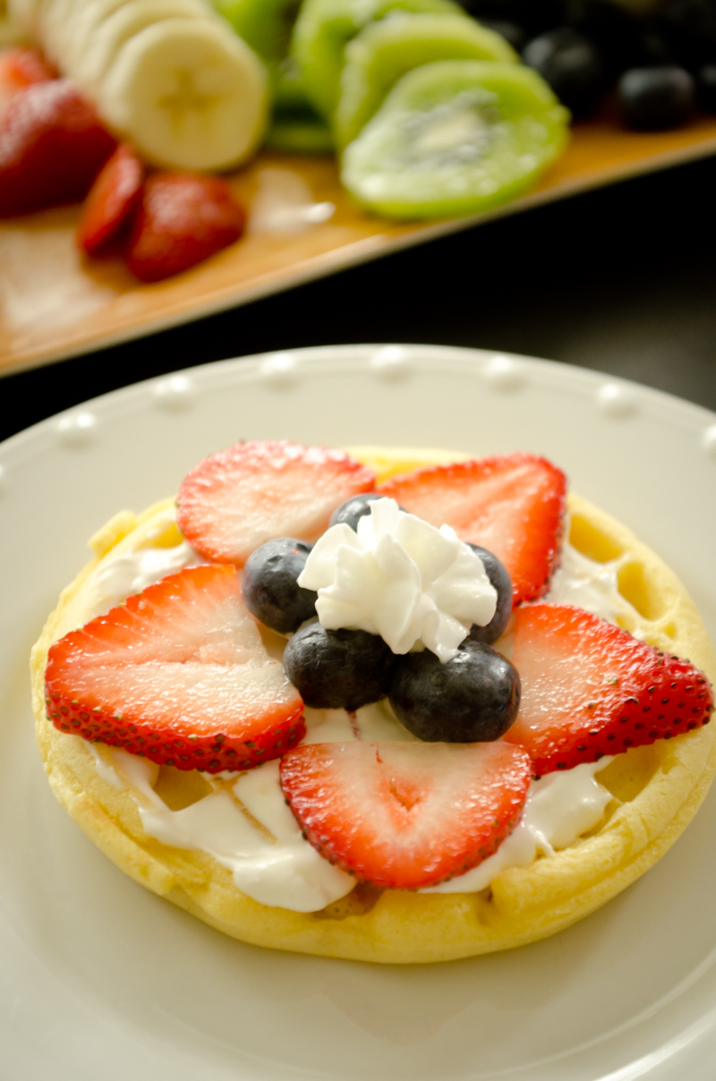Waffle Breakfast Pizzas-8