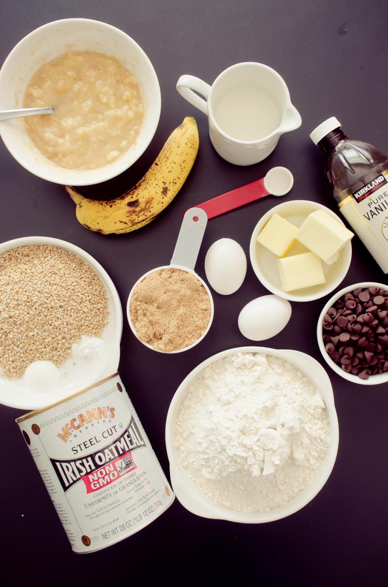 chocolate chip oatmeal banana bread-1