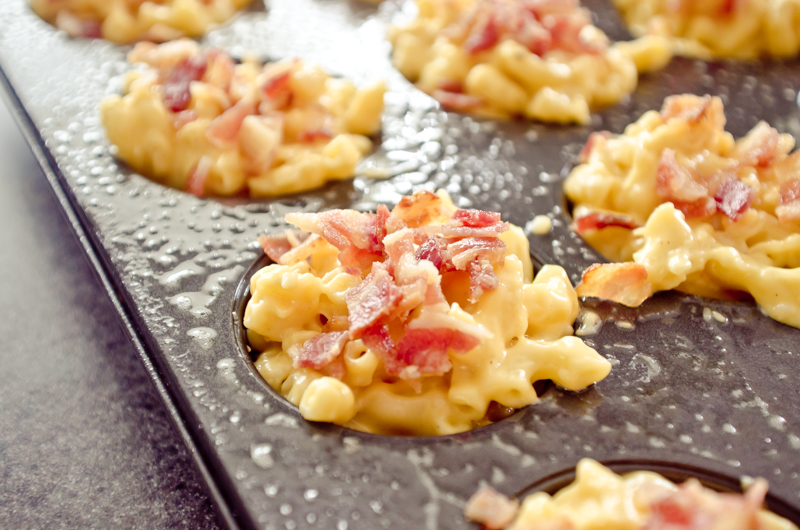 gouda and bacon mac and cheese cups-5
