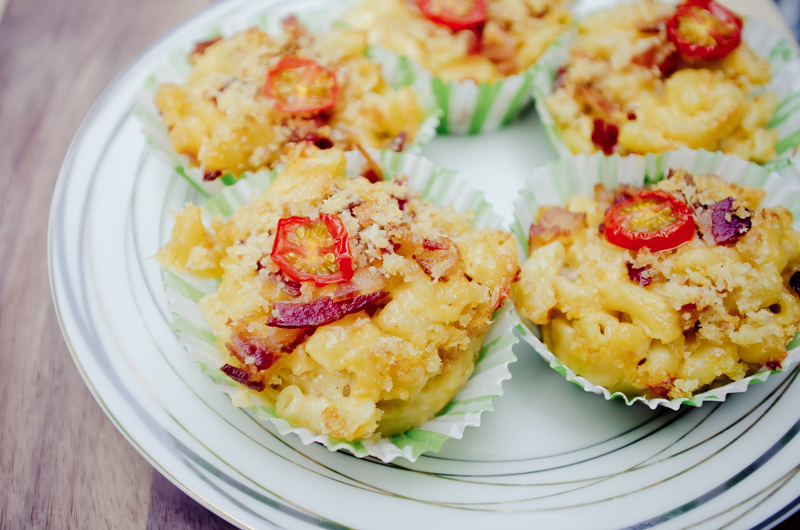 gouda and bacon mac and cheese cups-9