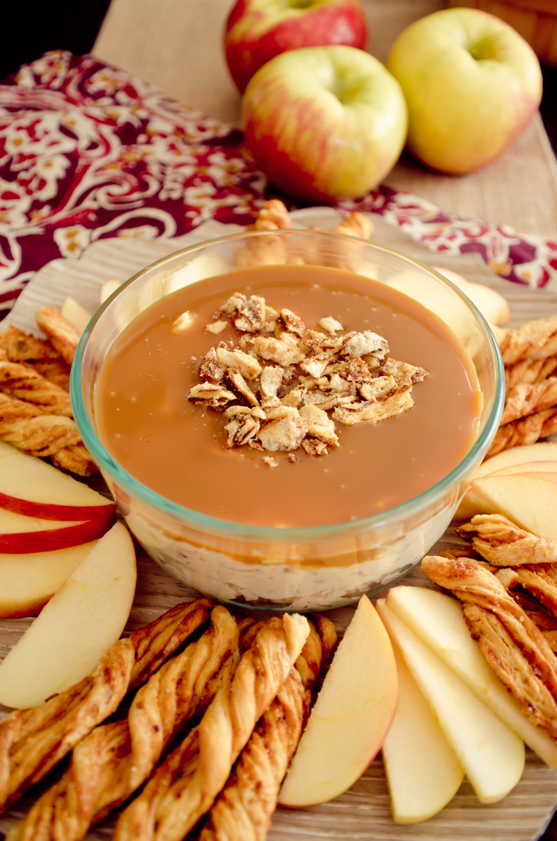 Caramel Cream Cheese Apple Dip-5