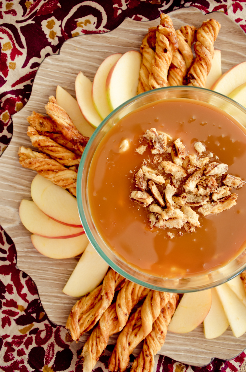 Caramel Cream Cheese Apple Dip-7