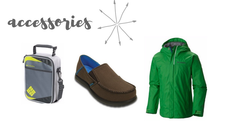 back to school wardrobe capsule for boys - accessories
