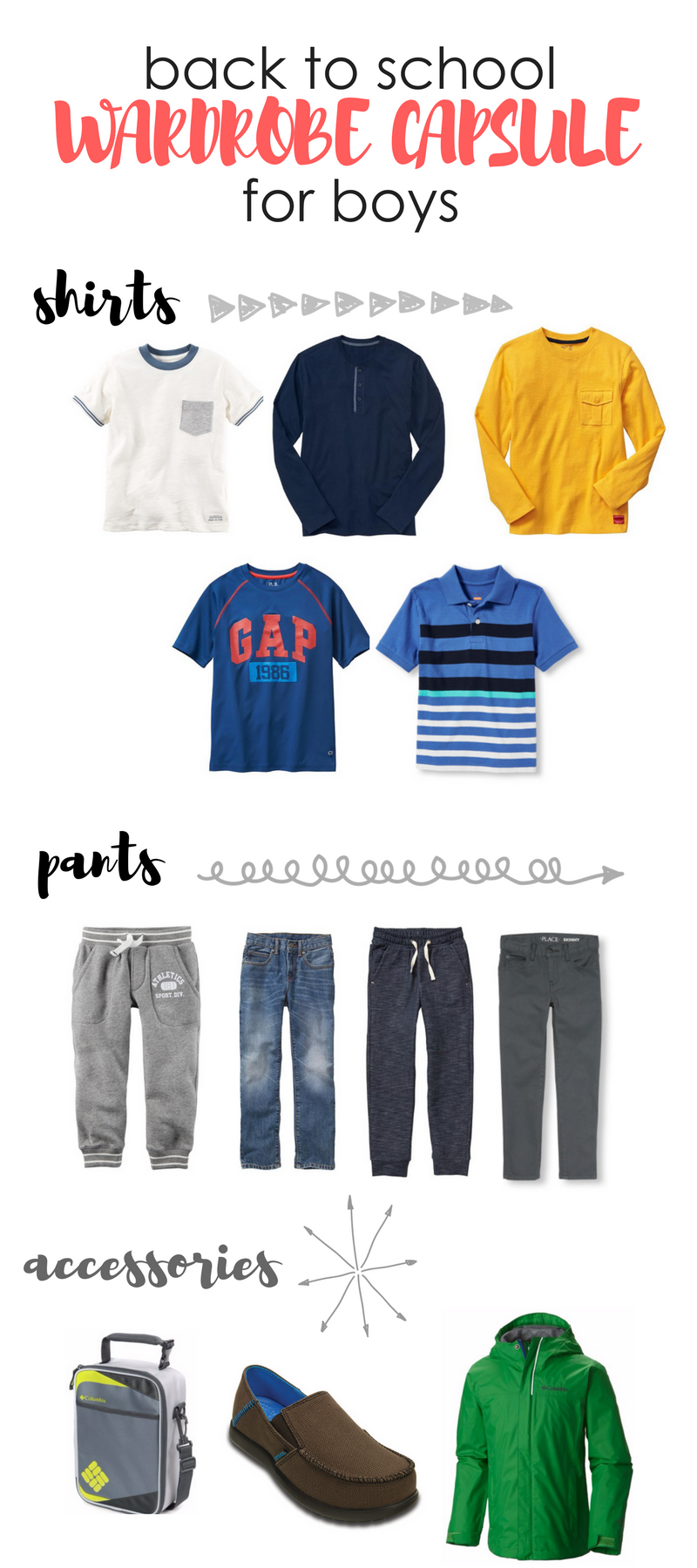 back to school wardrobe capsule for boys