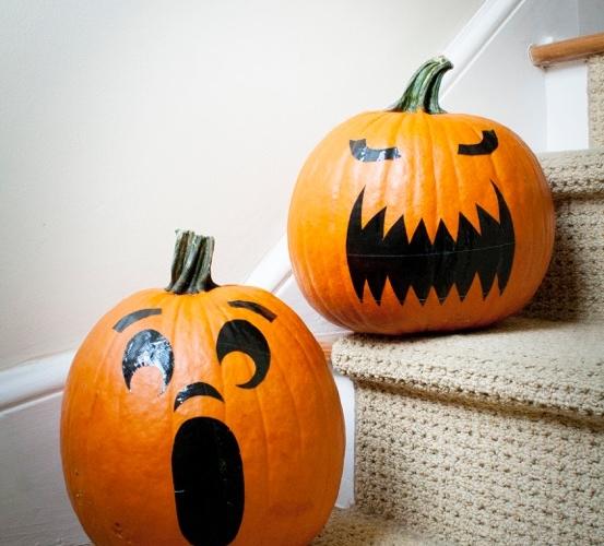 No Carve Pumpkins: Pumpkin Stickers