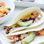 Honey-Lime Sweet Potato and Black Bean Tacos
