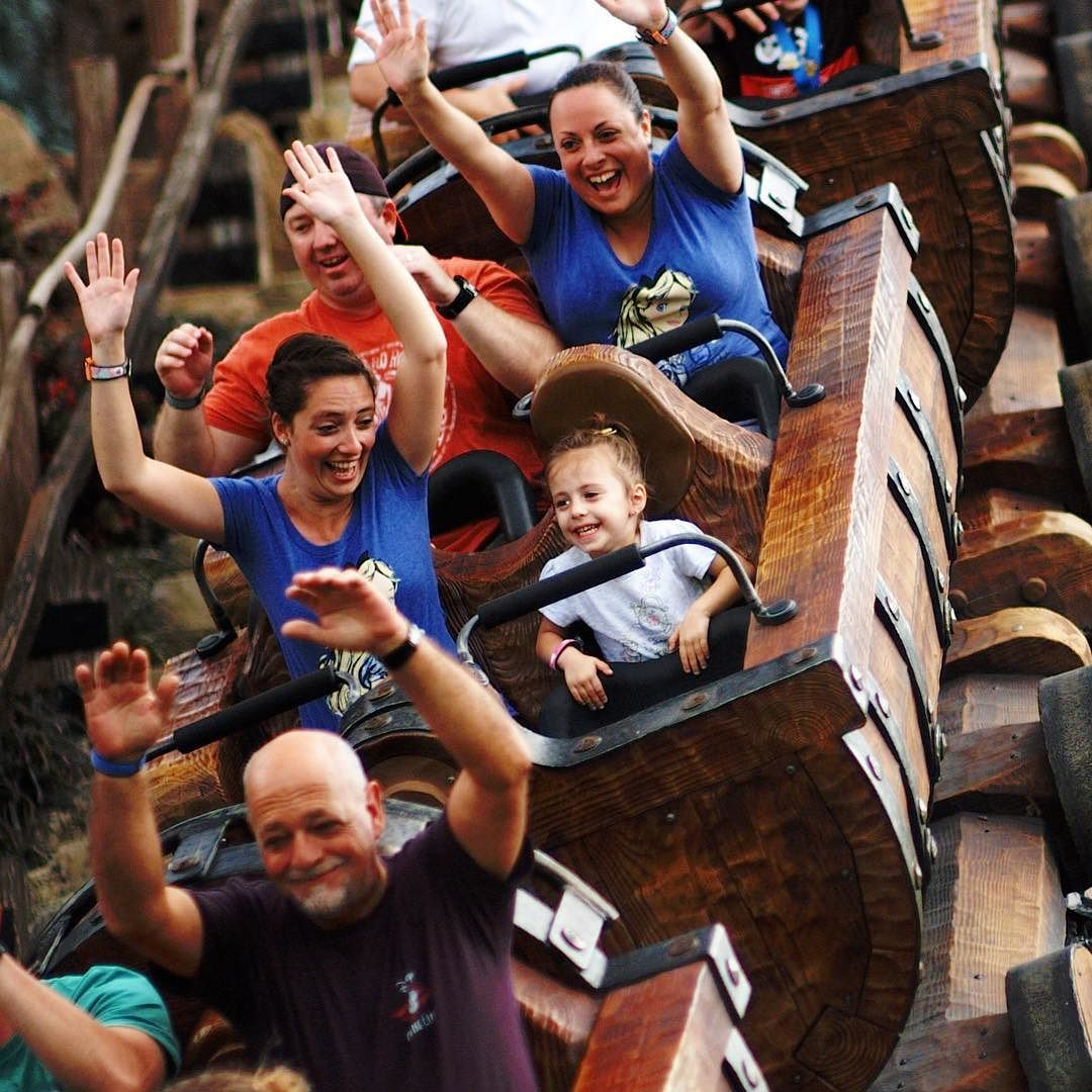 Countdown to Disney: Family fun on the Seven Dwarves Mine Train in the Magic Kingdom in Walt Disney World.
