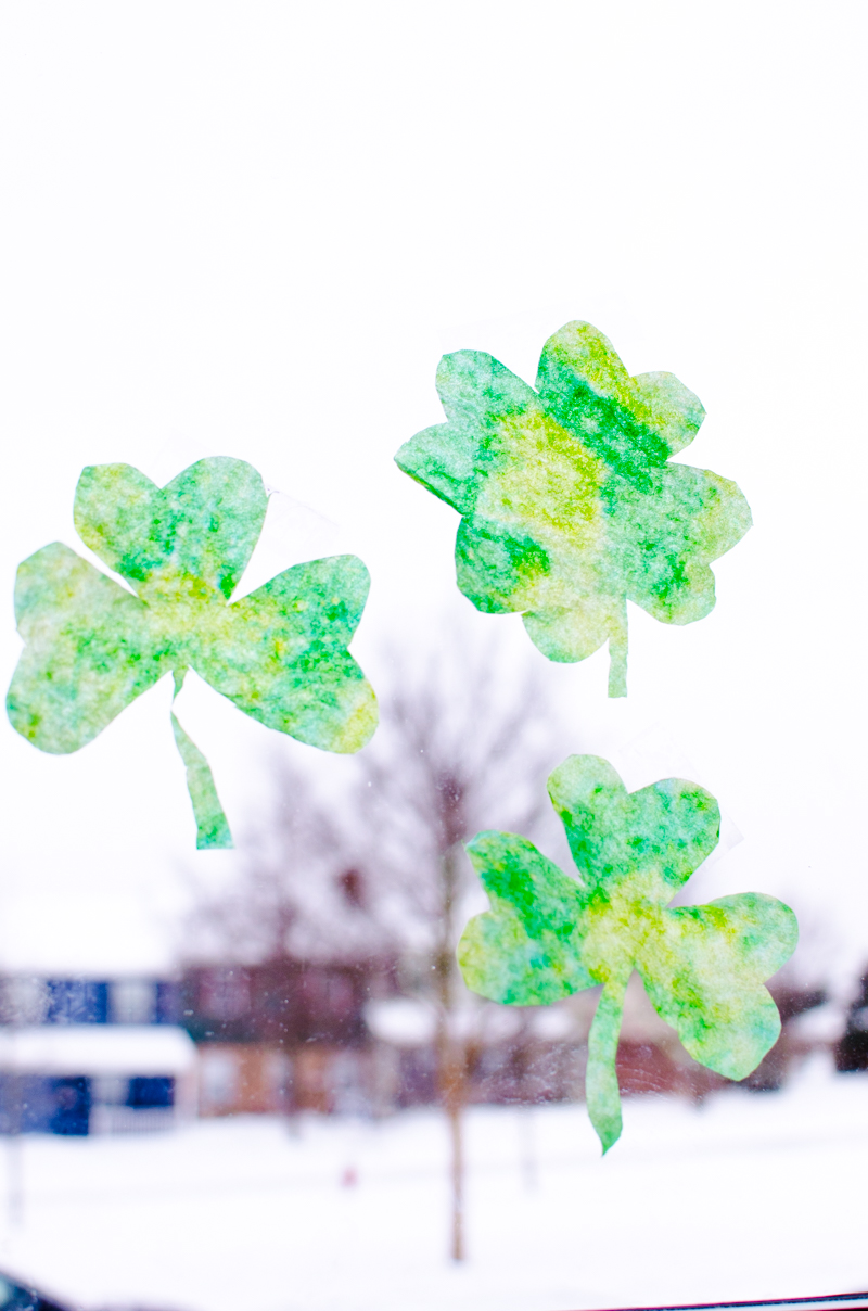 coffee filter shamrocks-6