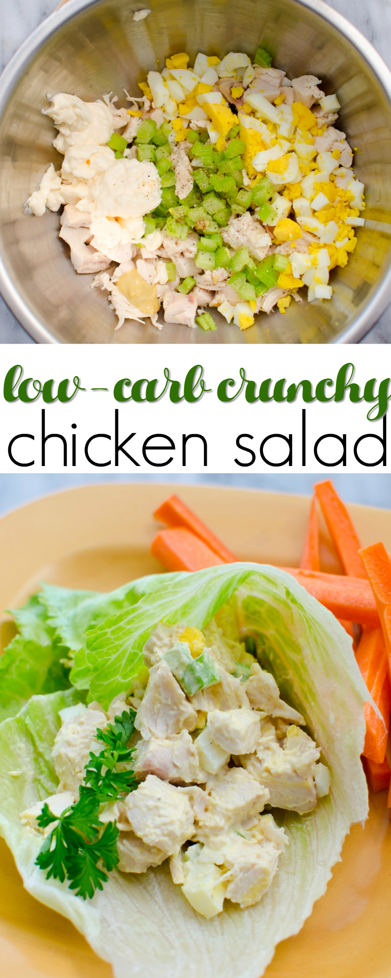 low-carb crunchy chicken salad
