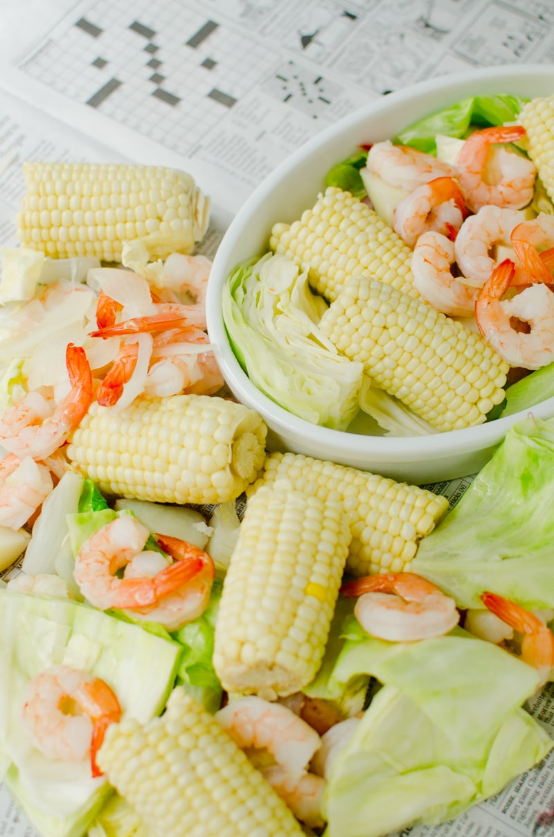 Beer-Boiled Shrimp with Fresh Corn-7
