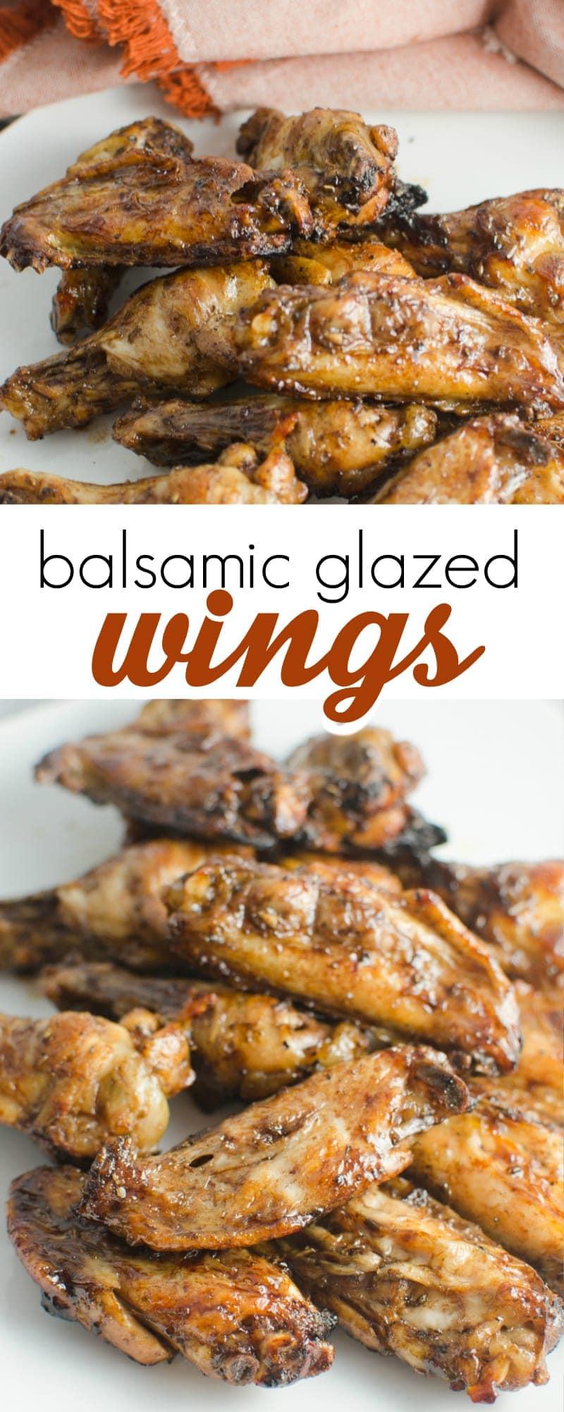 balsamic glazed wings