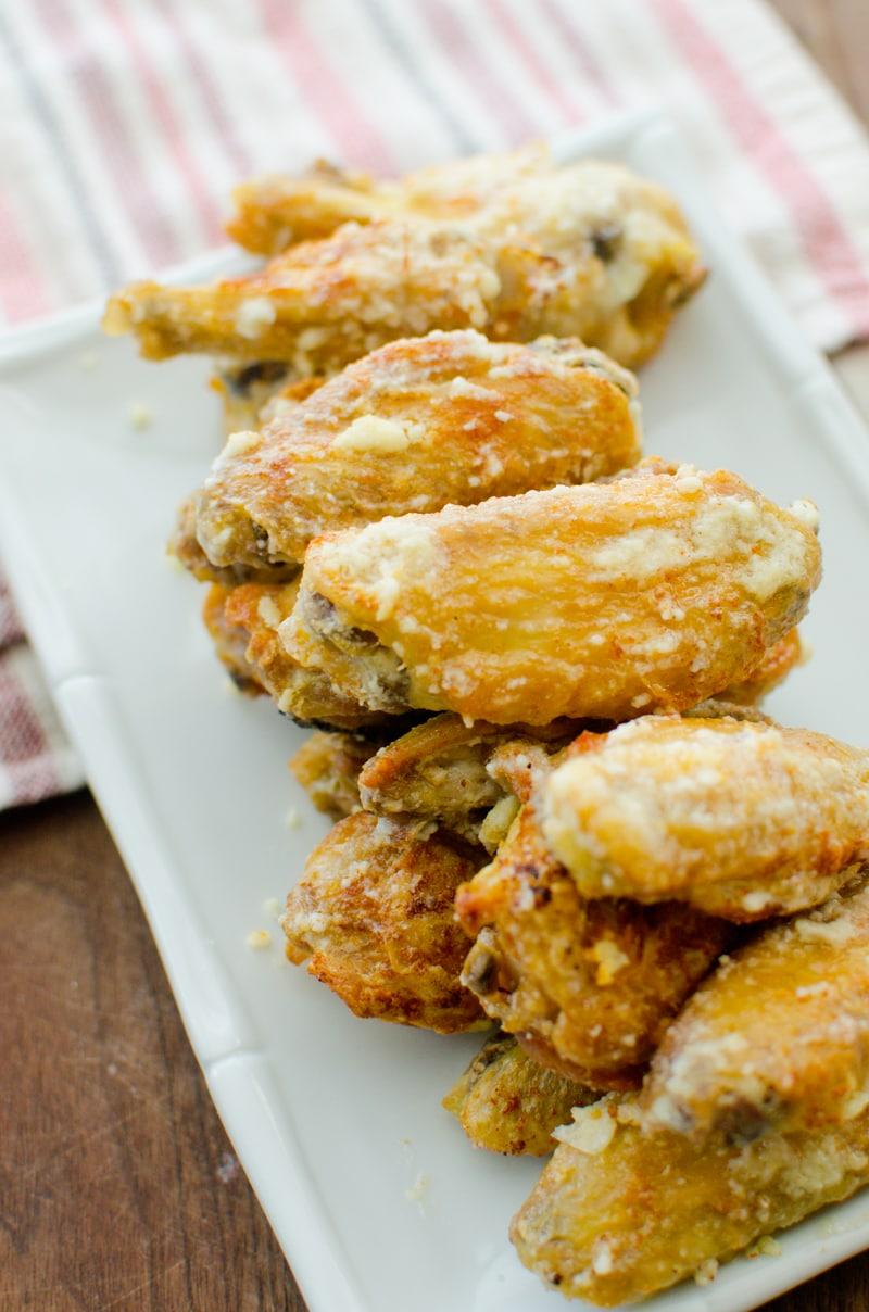 baked garlic and parmesan wings-6