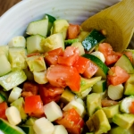 Simple Brain-Healthy Lunch Idea for Back to School: Cucumber, Avocado & Tomato Salad
