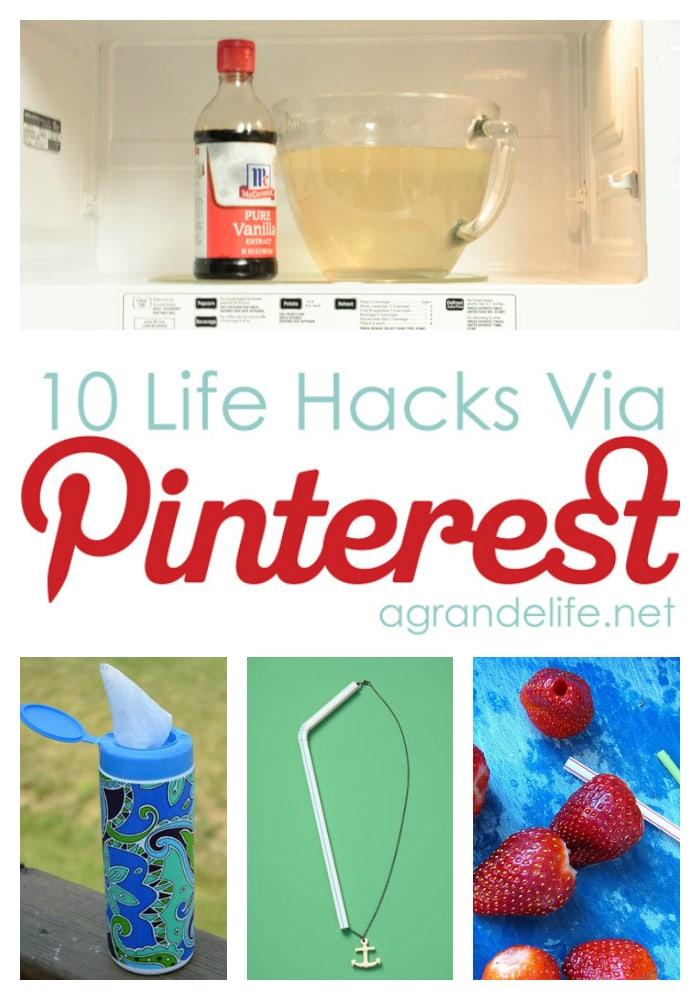 10 life hacks via pinterest