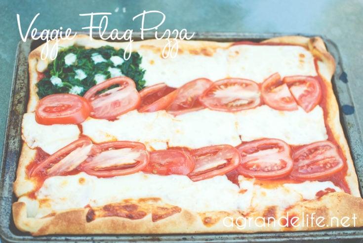 Veggie Flag Pizza