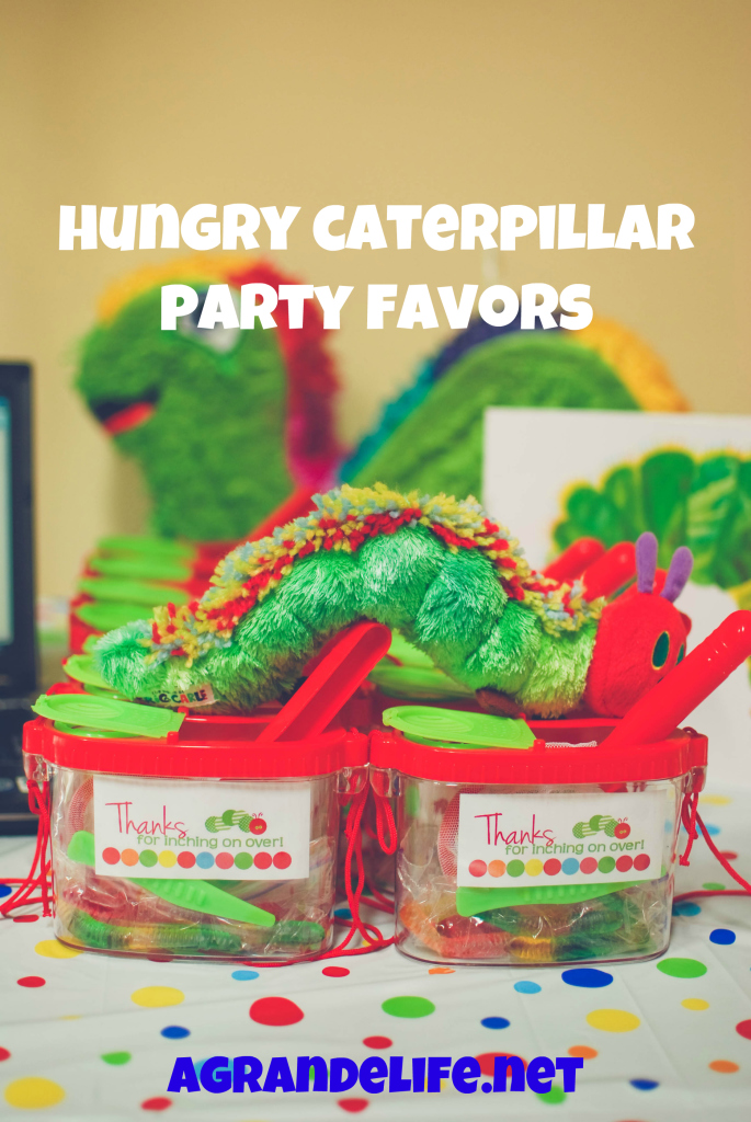 hungry caterpillar party favors
