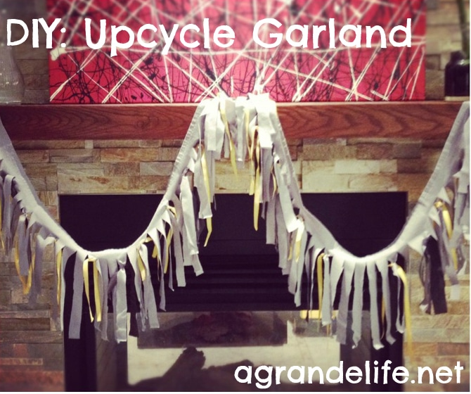 diy upcycle garland