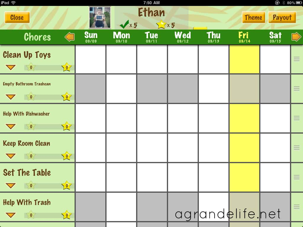 chores for preschoolers using chore pad app