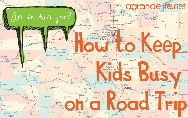 how to keep kids busy on a road trip